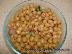 omit maldive fishSri Lankan Chickpeas stir fry (kadala thel dala) recipe.  i love this, so morish.-omit maldive fish