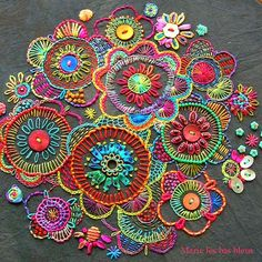 Freeform embroidery