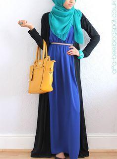 love the colors here! #hijab #hijabi #style #fashion