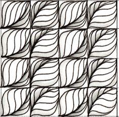 Leaflet tangle pattern