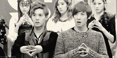 Haha, just look at their faces! MBLAQ's Mir and Lee Joon