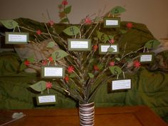 Tree seating chart for outdoor wedding!