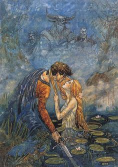 The art of Rebecca Guay Rebecca Guay is another of my favorite illustrators. Her paintings have a softness and delicacy to them, and yet they are passionate and sensual,. Illustrations, Illustration Art, Fairytale Art, Classical Art, Mermaid Art, Renaissance Art, Art Plastique, Pretty Art, Aesthetic Art
