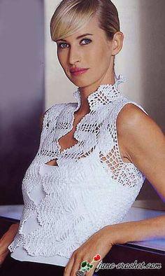 jane-crochet.com – Elegant crochet lace top