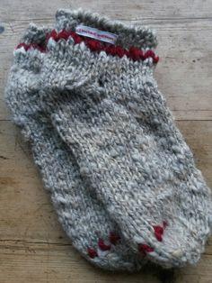 My first pair of sock. Self - spun