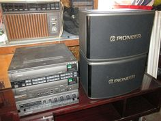 Pioneer LD CD CDV Player CLD-V303T, plus Pioneer Stereo Mixing Amplifier Model SA-V240 and pair of Pioneer CS-V180 400W speakers. Sale also includes laser karaoke  disc containing 1,000's of songs