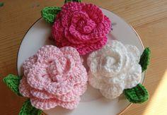 P001 patroon gehaakte roos