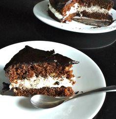 τούρτα σοκολάτα με κρέμα μασκαρπόνε Greek Recipes, Tiramisu, Muffins, Recipies, Deserts, Cookies, Chocolate, Cake, Ethnic Recipes