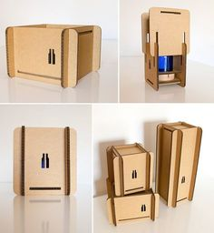 """Caja automontable en #cartón para @verdebotella  y sus """"Glass objects made by hand""""  http://www.verde-botella.com/ #packaging #cardboard"""