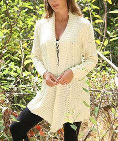 Another great find on #zulily! Cream Sidetail Duster by SR Fashions #zulilyfinds