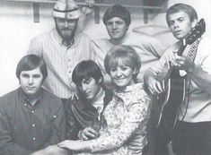 """A rare backstage photo of The Beach Boys and Lulu sharing the top billing. Carl Wilson, Dennis Wilson, The Beach Boys, Classic Rock, Guys, Backstage, Awesome, Top, Album Covers"