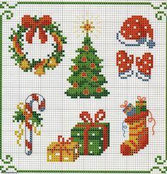 bordados en punto de cruz navideños gratis - Buscar con Google