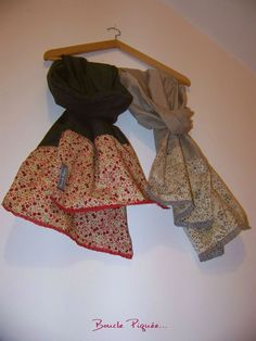 Fashion Sewing, Kids Fashion, Sewing Scarves, Snood Scarf, Creation Couture, Japanese Patterns, Couture Sewing, Sewing For Kids, Diy Crafts To Sell
