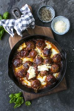 The Best Baked Meatballs... guarantee these meatballs are 100% worth all the effort! | DonalSkehan.com