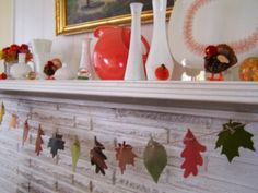 Leaf Garlands, from felt and/or fabric (links to several examples and tutorials.)