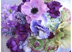 Purple Flower Bouquets   ... you happy when someone gives you flowers? and how often you get them
