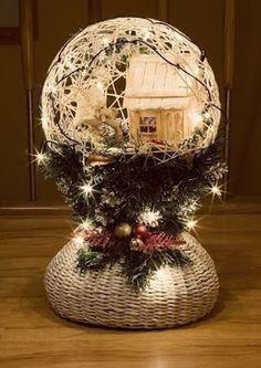 5 Esferas colgantes hechos con globos y hilos de henequén ~ lodijoella