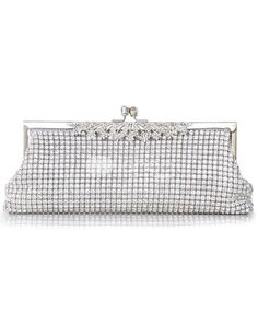 Silver Glitter Rosette Silk Evening Bag for Women. Silver Glitter Rosette Silk Evening Bag for Women. See More Evening Bags at http://www.ourgreatshop.com/Evening-Bags-C769.aspx