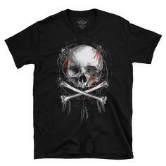 spider skull. Bad To The Bone, Spider, Skull, Mens Tops, Spiders, Skulls, Sugar Skull