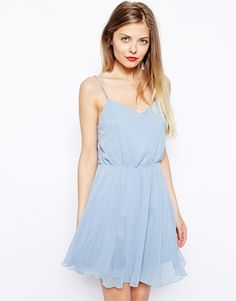 chiffon light blue skater dress * wedding guest attire * summer wedding style