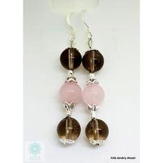 Füstkvarc és rózsakvarc ásvány fülbevaló Drop Earrings, Jewelry, Jewlery, Jewerly, Schmuck, Drop Earring, Jewels, Jewelery, Fine Jewelry