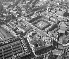 An aerial view of Newcastle City centre in It shows how the area looked before the construction of Eldon Square shopping centre in the late and The image also shows Grey's Monument and part of Grainger Market. From Tyne & Wear Archives. Old Pictures, Old Photos, Eldon Square, Newcastle Gateshead, Durham City, Know Your Place, North East England, Local History, Romantic Travel