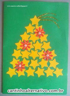 5 Modelos de Cartões de Natal - Blog Cantinho Alternativo