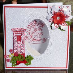 Multi buy Tattered Lace Pick of the Day July! Poinsettia Cards, Christmas Poinsettia, Christmas Cards To Make, Christmas Tag, Xmas Cards, Handmade Christmas, Christmas Crafts, Christmas 2019, Christmas Ideas