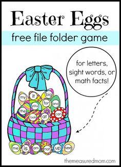 Free Easter File Folder Game!