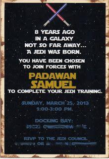 Star Wars Jedi Knight Training Academy Certificate Digital Print - Star wars birthday invitation maker