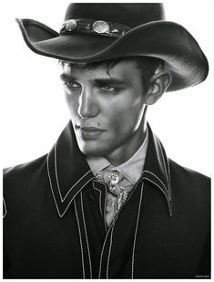 Guillaume Babouin, Jules Reynal and Sebastian Sauve captured by the lens of Anthony Meyer and styled by Sara Bascuñan Alonso for the issue of August Man Malaysia. Rugged Style, Chapeau Cowboy, Cowboy Hats, Western Cowboy, Western Style, Dandy, Style Brut, Men's Style, Midnight Cowboy