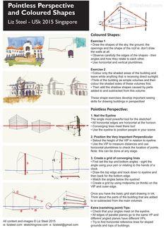 My Pointless Perspective workshop - with downloadable handout! - Liz Steel : Liz Steel