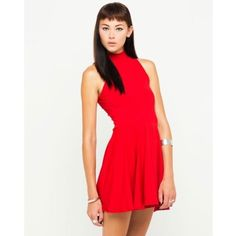 ⚡️SALE⚡️ NWT red ASOS dress with mock turtleneck Motel Rocks red turtleneck dress purchased on ASOS - brand new bought from an awesome Posher but it's a bit too small/doesn't flatter my dimensions. My loss is your gain though! It can fit an xs well but also a small because the material is stretchy! Length is 32 inches. ASOS Dresses