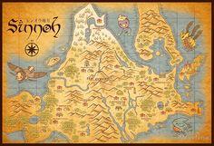 Sinnoh Map by MeleeNinja