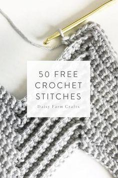 New Crochet Knit Stitch Gifts Ideas Crochet 101, Crochet Crafts, Learn To Crochet, Crochet Yarn, Crochet Projects, Free Crochet, Different Crochet Stitches, Crochet Stitches Patterns, Knitting Stitches