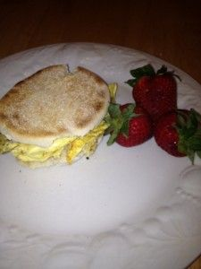 Egg & mushrooms Sandwich Low Weight Watchers Points Breakfast, 5P+