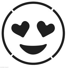 Smiling Face With Heart-Shaped Eyes Emoji Template Templates by Morgan Pugh