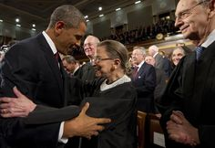 President Obama greets Ruth Bader Ginsburg and other Supreme Court justices before his State of the Union address in January. Analysts say whoever wins the presidential race could have a far-reaching effect on the future of the closely divided court. Republican Presidents, Presidential Election, I Look To You, Justice Ruth Bader Ginsburg, Supreme Court Justices, Cnn Politics, Former President, Michelle Obama, Barack Obama
