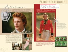 Pride and Prejudice 2005  - online companion - Mr. Bingley - Mr. Wickham - Charles BIngley - George Wickham - Simon Wood - Rupert Friend - Page 17