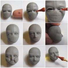 Newest Images Ceramics sculpture tutorial Strategies Modeling Tutorial: Human Head – lvl epiphanie – Polymer Clay Kunst, Polymer Clay Figures, Polymer Clay Sculptures, Polymer Clay Dolls, Polymer Clay Crafts, Sculptures Céramiques, Art Sculpture, Pottery Sculpture, Sculpture Ideas