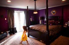This purple master bedroom rocks!