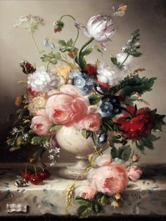Hildegard Schwammberger - прекрасные натюрморты (22 работ)