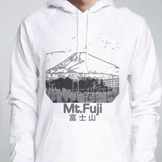Fuji 富 士 山 - Pullover Hoodie - designed by cool-rock using Snaptee Cool Rocks, Personalized T Shirts, Hoodies, Sweatshirts, Fuji, Graphic Sweatshirt, Cool Stuff, Sweaters, Collection