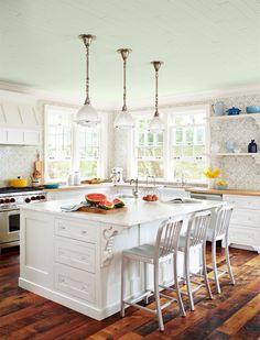 blue ceiling...benjamin-moore-serene-breeze-449-sarah-richardson-country-home-endless-summer-kitchen-0615