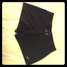 Nike Workout Shorts Basic black, everyday gym staple. These fit more like regular shorts...they're not tight like bike shorts or leggings. About a 4 inch inseam. Good used condition. Nike Shorts