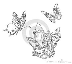 Illustration about Butterfly and Crystals Adult Children Coloring Book Black White Sketch Cartoon Children Anti-stress Relaxing Coloring. Illustration of black, antistress, sketch - 133219946 Adult Coloring, Coloring Books, Cartoon Butterfly, Anti Stress, Adult Children, Sketch, Black And White, Crystals, Illustration