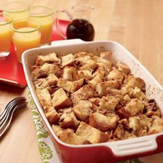 French Toast Casserole. For Easter or Christmas morning so I don't have to cook!