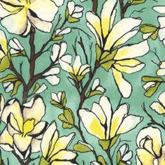 Laura Gunn - Magnolia Lane - Magnolia Branch in Aqua    on my wishlist