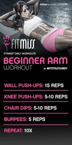 Beginner Arm Workout--Fitmiss