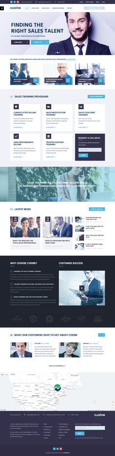 Cosine - Training, Coaching & Business WordPress Theme